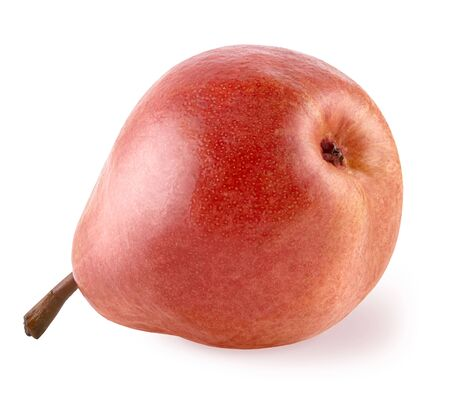 Isolated pears. Max Red Bartlett pear also called red Williams. Whole fruit on white background   as package design element and advertising. Full depth of field.
