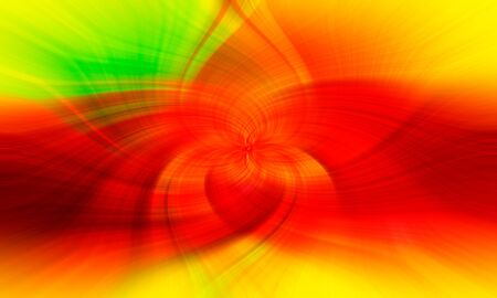 Abstarct background. Twirl effect as a colorful decorative patterned wallpaper. soft focus. Triad of red, yellow and green colors