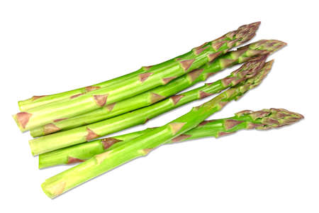 Fresh green asparagus bunch isolated on white Archivio Fotografico