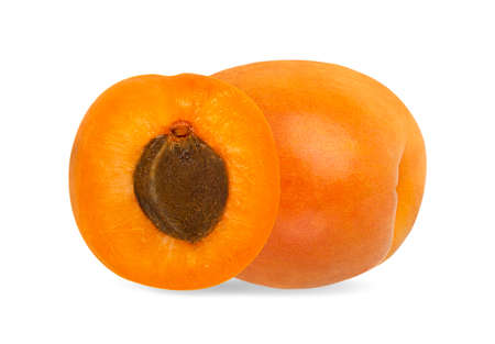Apricot isolated on white background with clipping path