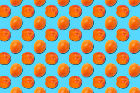 Pattern of fresh fruits isolated on creative colored texture Archivio Fotografico - 159234421