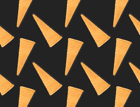 Pattern of ice cream cone isolated on creative colored texture Archivio Fotografico - 159234429