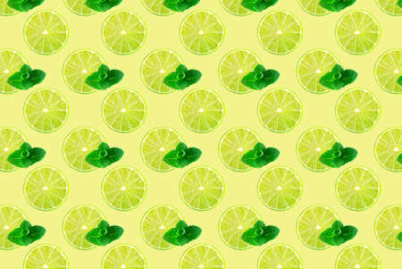 Pattern of fresh fruit isolated on creative colored texture Archivio Fotografico - 160754349