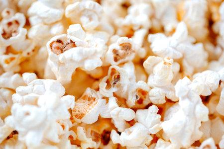 full of delicios homemade popcorn on the table Archivio Fotografico - 160754352