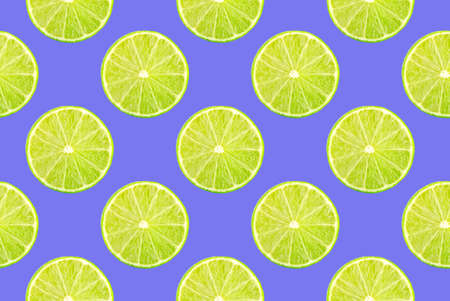 Pattern of fresh fruits isolated on creative colored texture Archivio Fotografico - 160754354