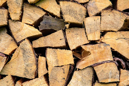Cute wooden logs for texture or background
