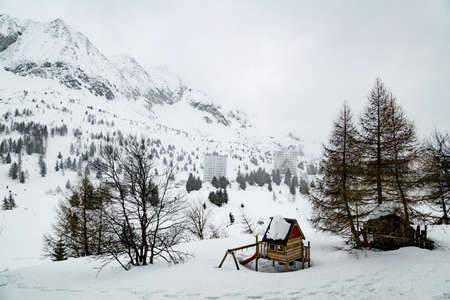 Top of snow capped mountains during the winter time Archivio Fotografico