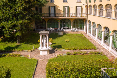 courtyard of a monastery in the province of Brescia