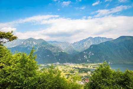Panoramic view of Lake Ledro and its surroundings for out-of-town excursions