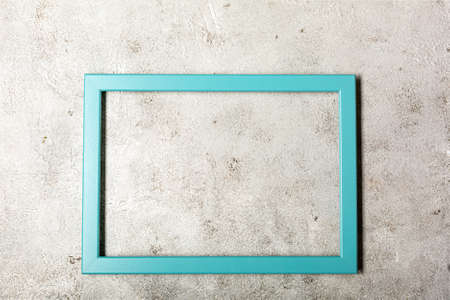 Picture frame design with shadow on gray background Archivio Fotografico