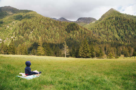 Beautiful Lombardy mountains in splendor of spring Archivio Fotografico