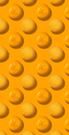 Whole fresh orange fruit pattern color background
