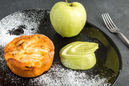 Apple pie with pears on the top