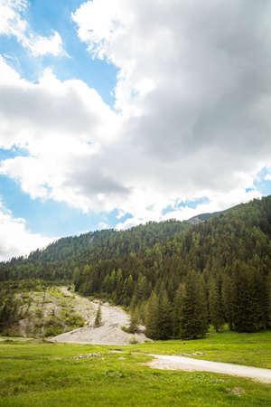 Landscape with green mountain peaks in summer Foto de archivo