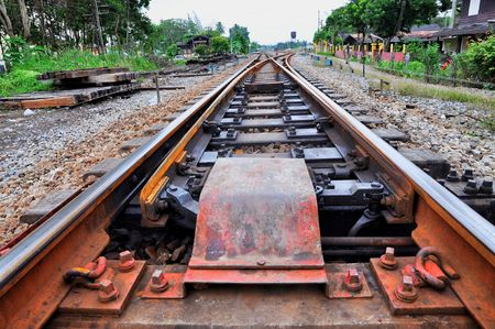 slit: Ferrocarril de hendidura Long Way Foto de archivo