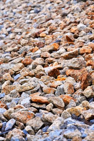 Many Stone Pebble Messily Stock Photo