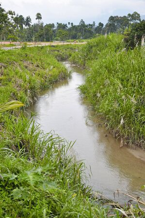 flatten: Flatten Canal Flow Empty Stock Photo