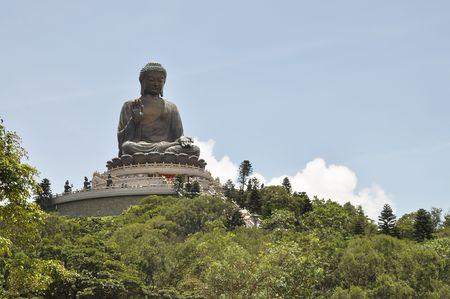 Big Buddha Mountain Statue Stock Photo