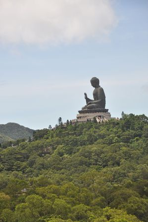Buddha Statue Mountain Stock Photo