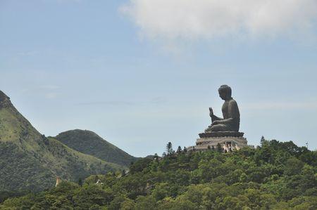savant: Buddha Statue Mountain Far Stock Photo