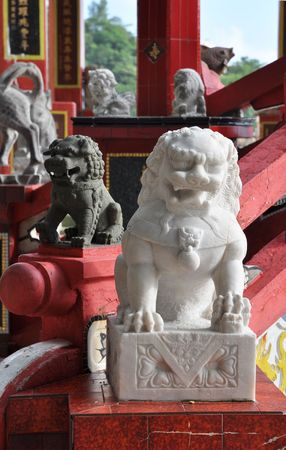China Lion Marble Step Stock Photo