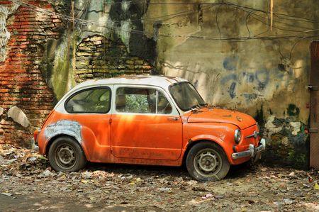 sluttish: Derelict Mini Car Flank