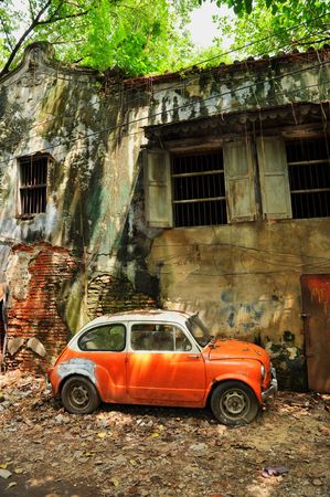 dingy: Derelict Mini Car House