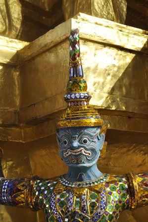 titan: Giant Titan Head Thailand Blue