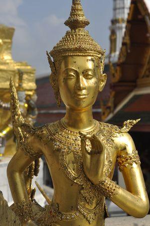 Gold Sculpture Model Man Thailand