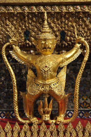 Golden Garuda Single Thailand Sculpture photo