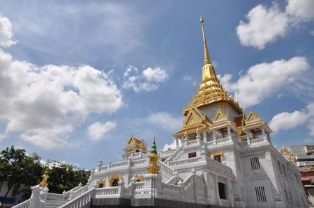 Thailand Gold Stupa Pagoda photo