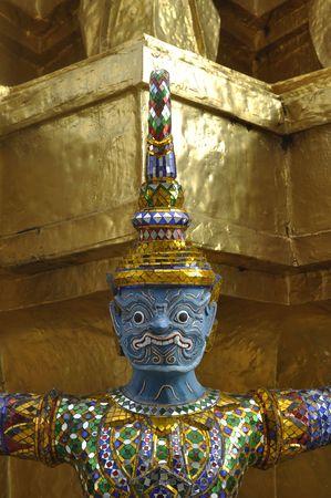 Titan Giant Head Thailand Blue Stock Photo