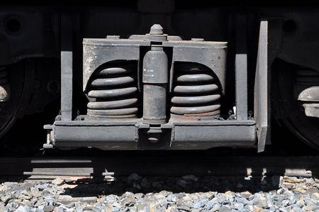 dampen: Train Spring Outdoor Stock Photo