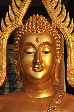 Buddha Head Brass Aura Stock Photo - 7466241