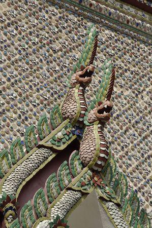Tile Mosaic Senpent Pattern Thailand Style Stock Photo