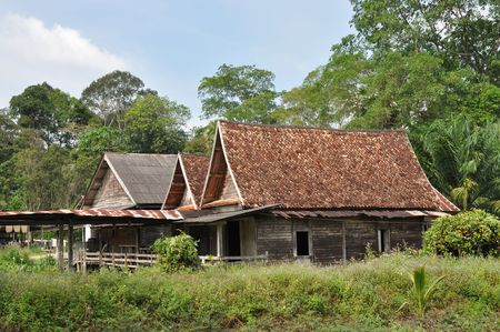 Old Wood Barrack Country Thailand photo