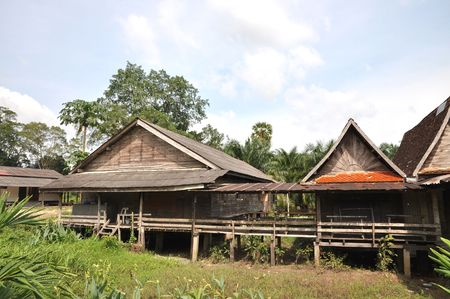 Old Wood Barrack Thailand Country photo