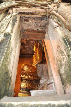 objectivity: Buddha Vent Frame Wall Old Stock Photo