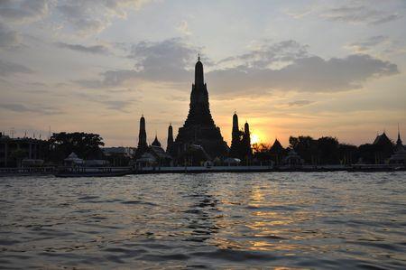 Wat Arun Temple Sunset Thailand