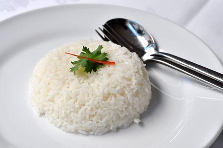 Rice Steamed White Set Dish
