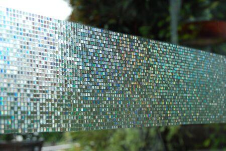 Mosaic Pattern Glass Background