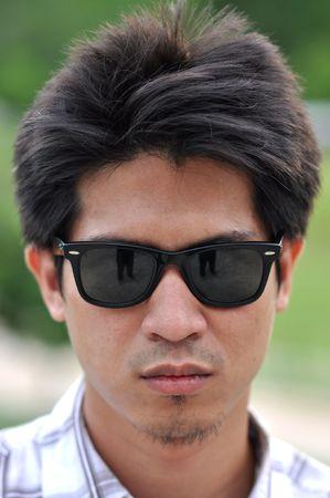 Asia Thailand Man Face Sunglasses photo