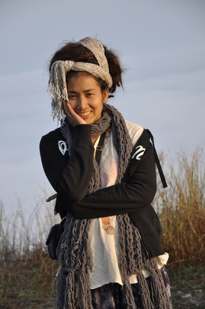 Beautiful Style Women Hair Dreadlock Asia Pretty Stock Photo - 9858620