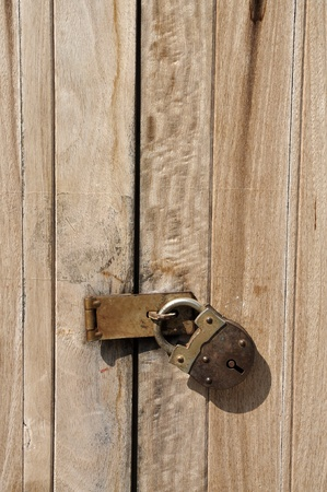 Old Key Vintage Lock Door Wood photo