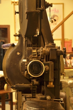 Movie Projector Old Big Stock Photo