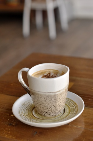 Table Coffee Cup Hot Cappuccino