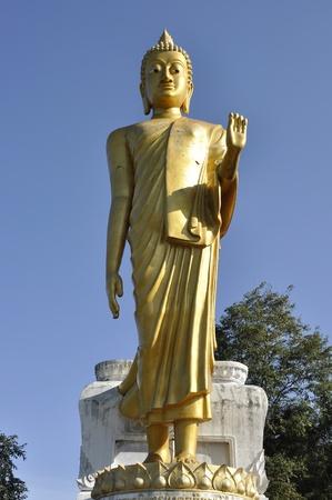Big Statue Buddha Stand Outdoor Thailand