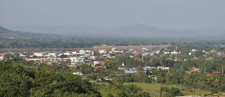 Panorama Country Village Thailand River
