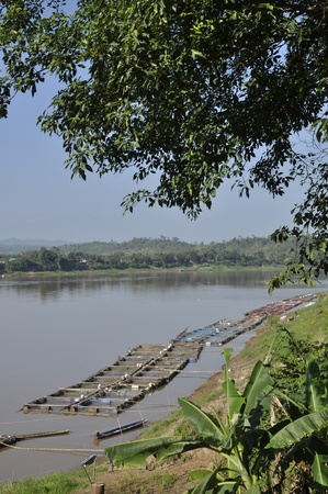 River Mekong Thailand Raft Nature Outdoor