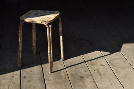 Wood Chair Shadow Old Object Light